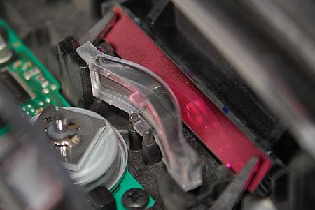 verschmutze Laserscanner Einheit vom HP Color Laserjet 2600n