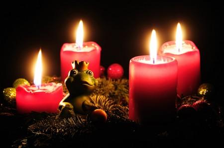 Adventskranz zu Weihnachten