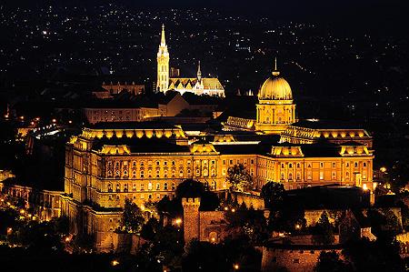 Burgpalast Budapest vom Gellért Berg fotografiert