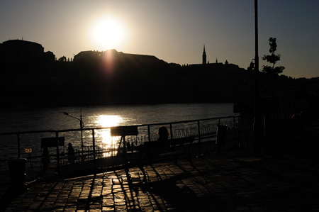 Budapest: Sonnenuntergang an der Donau