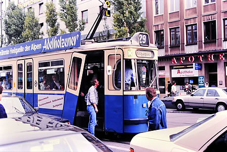 Straßenbahn 1988 München - digitalisiert mit Hama Dia-Duplikator