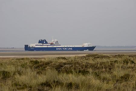 DFDS Tor Line bei Einfahrt in Esbjerg