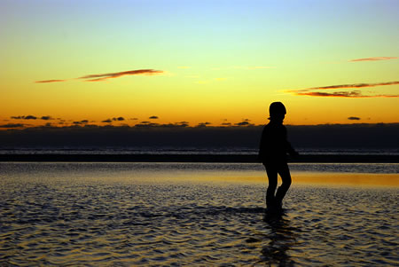 Hannah im Wattenmeer
