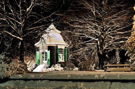 Radevormwalds Gartenhäuschen im Schnee