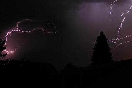 Gewitter über Radevormwald - 30 Juli 2009, 1:20Uhr
