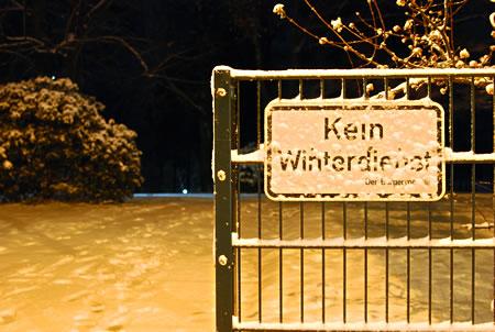 Wintereinbruch Radevormwald Bergisches Land