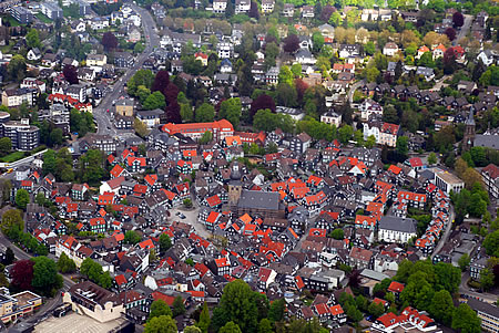 Luftbild Remscheid-Lennep (Altstadt)