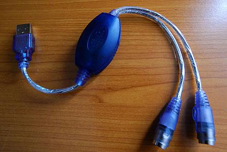PS/2 auf USB Adapter (der schlechteren Sorte)