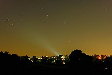 Lichtverschmutzung Radevormwald bei Nacht