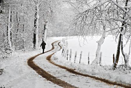 Erneuter Wintereinbruch im Bergischen Land