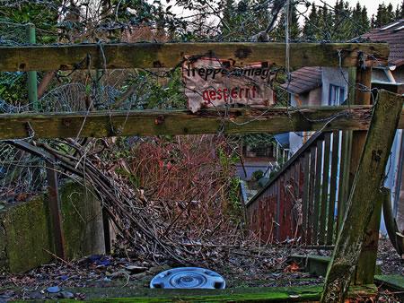 Gesperrte Treppe Remscheid Neuenhof