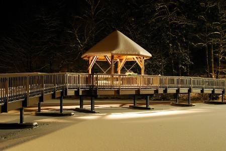 Ülfebad Brücke Radevormwald im Winter