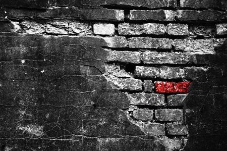 Zerfressen - Mauerwerk