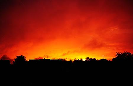 Wenn der Himmel brennt ... - nach dem Unwetter