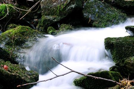 Restschneeverklappung - Wiebach kurz vor der Vorsperre