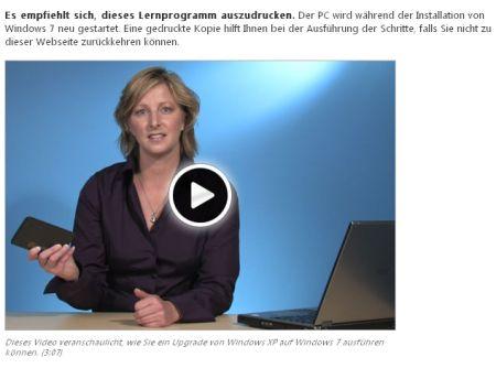 Windows 7 Installationsvideo - lieber ausdrucken