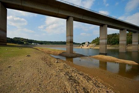 Wupperbrücke mit Wupperdamm - Krebsöge